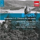 Bruch: Symphonies 1-3 / Concerto for two pianos, , Very Good