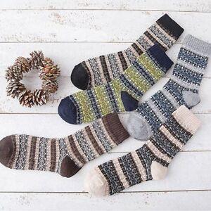630d0a19d3553 Warm Winter Ethnic Retro Thick Rabbit Wool Wool Socks Men's Socks | eBay