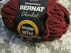 NEW-BERNAT-BLANKET-Rich-Burgundy-Red-Yarn-300-g-Polyester-Super-Bulky-04765