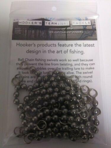 #10 SS Bead Chain Swivel 6 Ball 100 lb Test Pack of 100 Fishing Swivels
