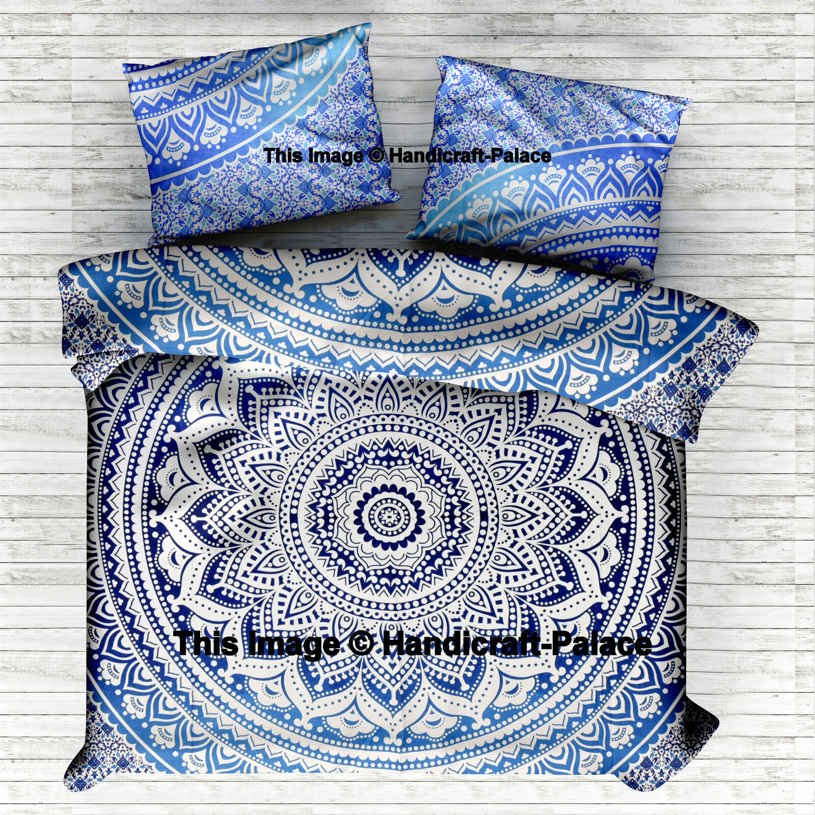 Selection - DUVET COVER SETS - Ethnic Indian Ombre Mandala - King Queen Bed Sets