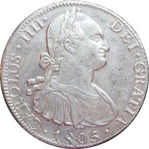 Mexico-8-Reales-Mo-1805-T-H-Carolus-IIII-KM-109-Luster
