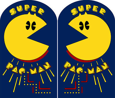 2 pc set Pac-Man Pacman Black Medallion Sideart Set