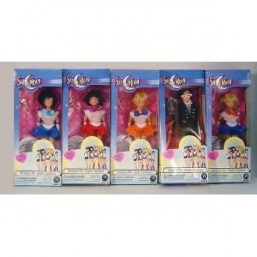 Rare Sailor Moon 6   Dolls 5 Piece Set By Irwin Toys