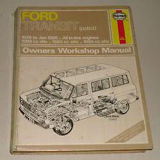 Reparaturanleitung Ford Transit 1,6 / 2,0 Liter Benziner, Baujahre 1978 - 1986