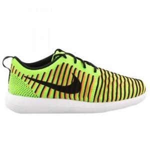 ec8f90fa5aca Girls Boys Juniors NIKE ROSHE TWO FLYKNIT GS Trainers 844619 300 UK ...