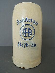"""Sehr alter Bierkrug """"Bamberger Hofbräu"""" Maßkrug Sammler Brauerei Krug 1 ltr."""
