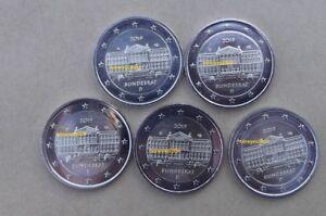 5 x 2 euros commémorative  ALLEMAGNE 2019 - A D F G J - Bundesrat