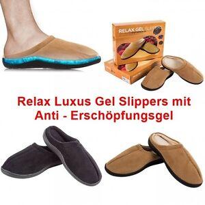 Relax Gel Slipper Hausschuhe mit Anti Erschöpfungs Gel Pantoffeln Slippers