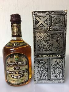 CHIVAS-REGAL-12-years-old-75cl-43-86-Proof-Scotch-Whisky-Aberdeen-Vintage-H