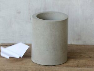 Modern-Concrete-Waste-Basket-Garbage-Can-Handmade-Dyed-layered-Cement-Home-Decor