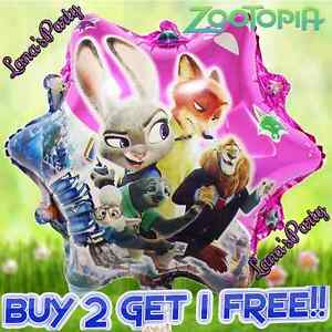 Image Is Loading Star ZOOTOPIA 20 034 Mylar BALLOON Zoo Birthday