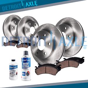 Fit 2010 2011 2012-2018 4Runner GX460 Front /& Rear Brake Rotors Ceramic Pads