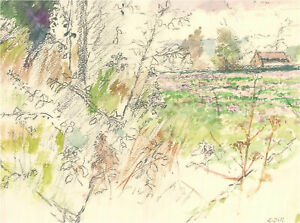 Keith Johnson (1931-2018) - 2015 Graphite Drawing, Landscape Study