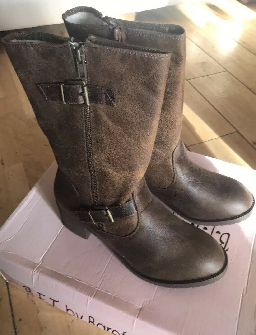 Barefoot Tess bottes -marron Taille UK 9 US 11 (BNIB)