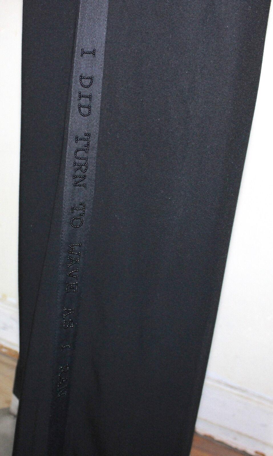 Ann Demeulemeester Spring 2000 WOOLGATHERING Patti Smith beaded pants 38