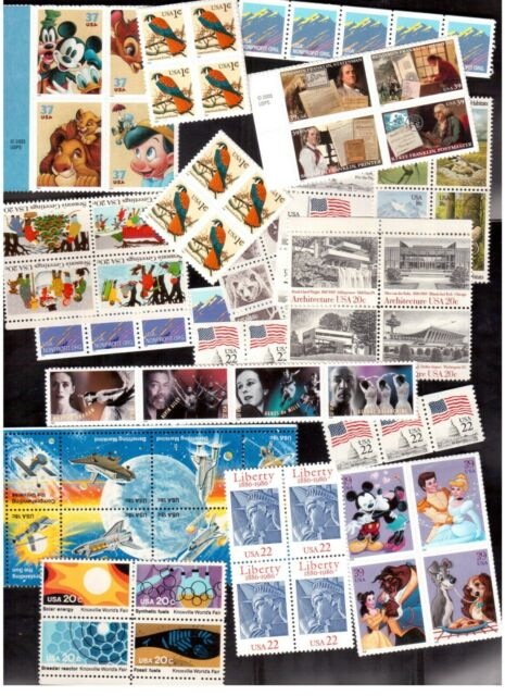 USA FACE VALUE LOT OF US$ 44.77 (CAD$61.00) MINT NH STAMPS !!
