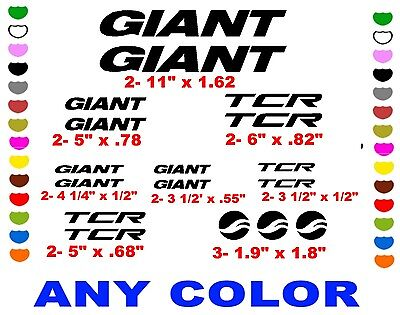 GIANT PROPEL SHIMANO  BIKE  STICKERS DECALS    ANY COLOR   BICYCLE ROAD RACE