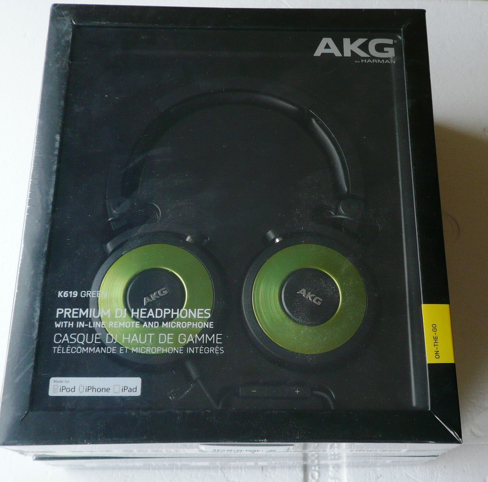 Kopfhörer AKG K 619 DJ-On-Ear Mikrofon Mikro Farbe green Green Neu, OVP