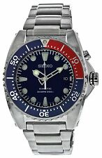 Seiko Men's SKA369 Kinetic Diver's Blue Dial, Red & Blue Bezel 200m Watch SKA...