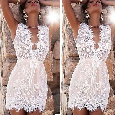 2016 Sexy Women's Summer Bodycon Lace Evening Party Cocktail Short Mini Dress