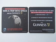 Beer Pub Mat Coaster: Guinness Draught ~ Win A Trip To Space ~ Saint John's Gate