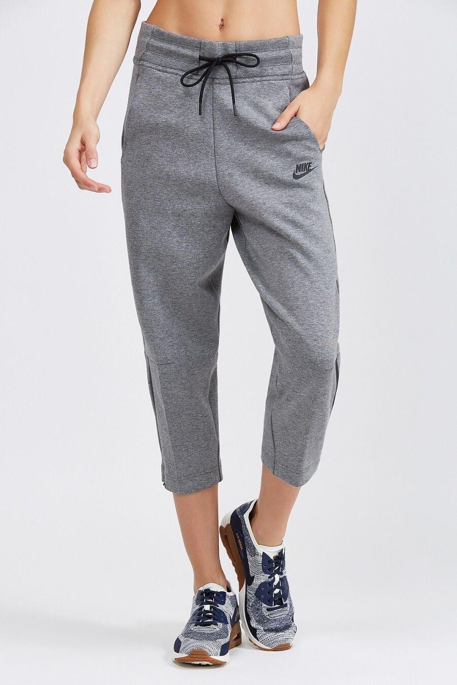 Nike Sportswear Tech Pile Pantaloni Donna Carbon Heather Running WALKING PALESTRA