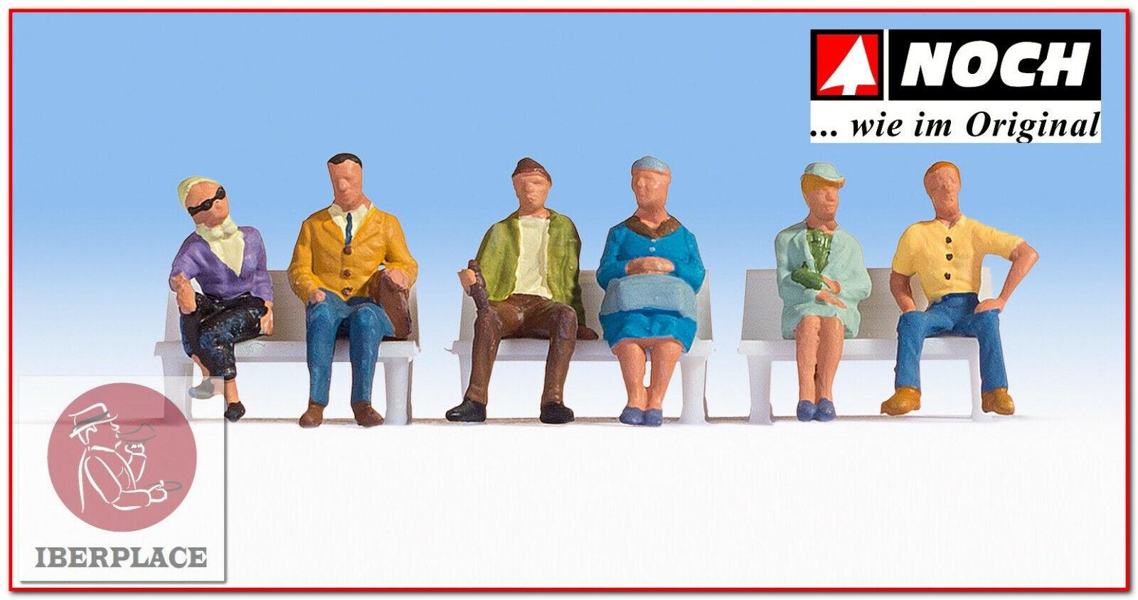 N escala 1:160 figuras modelismo maqueta trenes Noch 36532 gente sentada gens