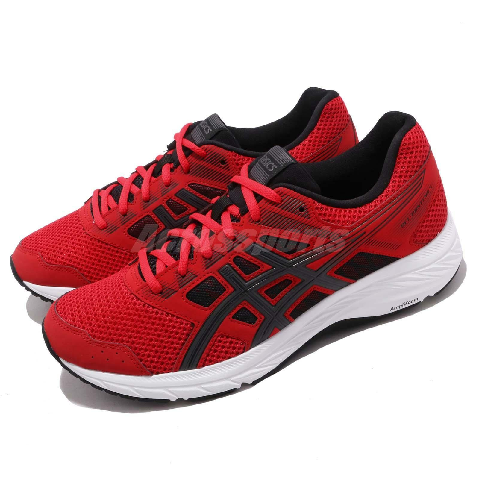Asics Gel Contend 5 Classic rouge Dark gris Hommes FonctionneHommest chaussures paniers 1011A256-600