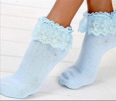 Sweet Cute Women Ladies Princess Girl Vintage Lace Ruffle Frilly Ankle Socks