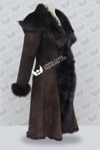 pour 3 à capuche Trench marron Toscana femmes de en femme pour coat 4 peau mouton xF4wqOIwR