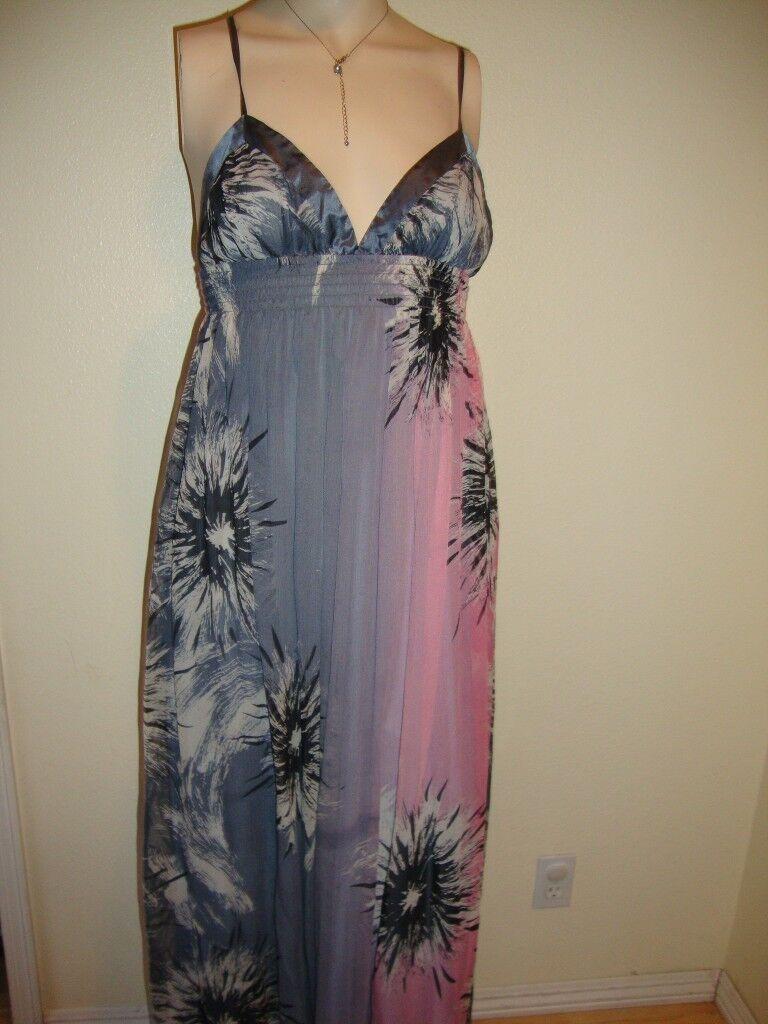 NWT BEBE FLORAL PRINT HALTER MAXI DRESS DRESS DRESS SIZE L be34d6
