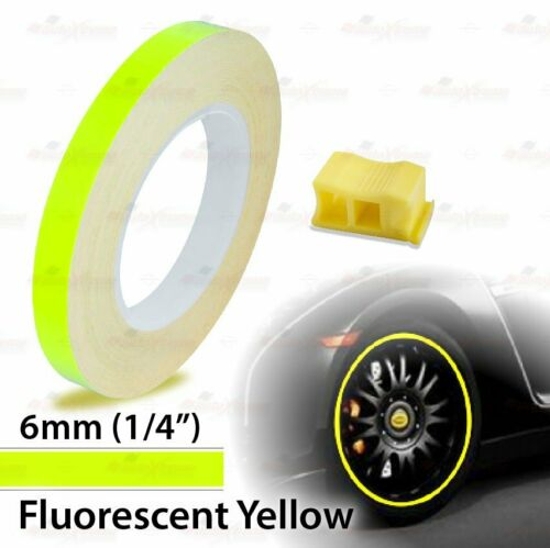 """6mm 1//4/"""" 0.25/"""" WHEEL RIM Solid Line STYLING Tape PIN STRIPE Decal Vinyl Stickers"""
