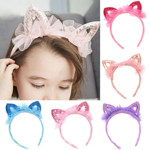 Baby princess cat ears tiara hairband hair head hoop band for kids headwear DS