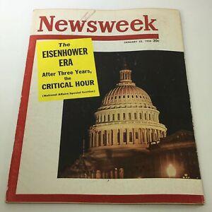 VTG Newsweek Magazine January 23 1956 - The Eisenhower Era / Newsstand