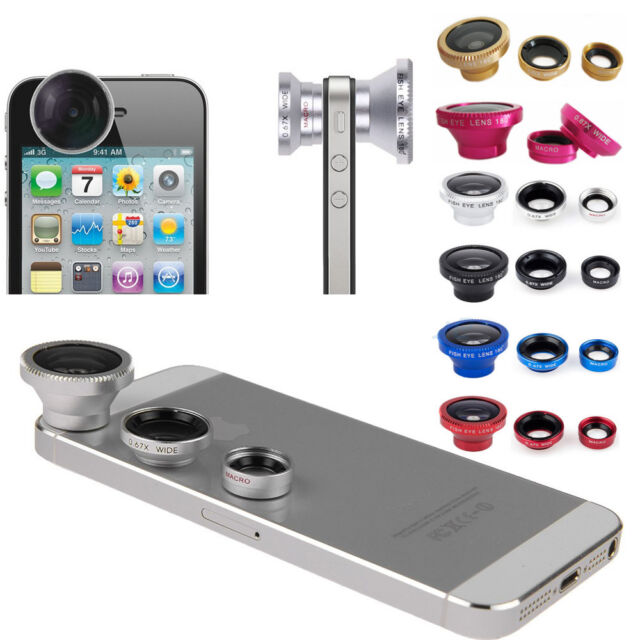 Universal 3 in1 Fish Eye+Wide Angle+Macro Lens Camera Magnetic Kit for Cellphone
