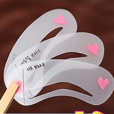 3 Styles Eyebrow Stencil Eye Brow Kit Liner Shaper Make Up Template Shaping DIY