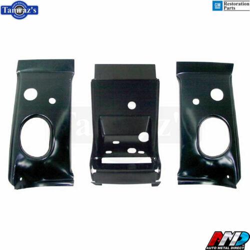 66 Chevelle Taillight Panel Inner Brace Support Trunk Lock Latch 3 pc Set AMD