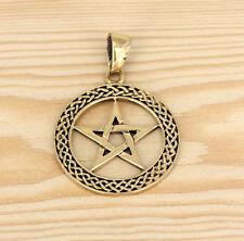 Anhänger Bronze Schmuck - Keltische Knoten  -  Pentagramm - Stern