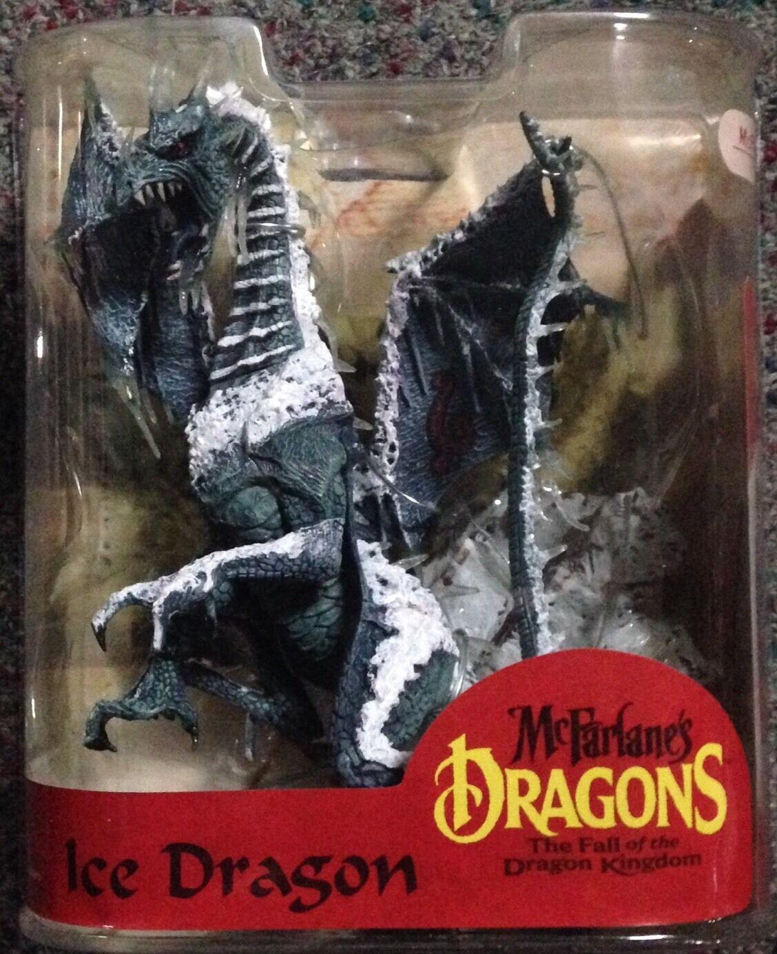 Ice Clan Dragon McFarlane Series 8 MIP Kingdom Warrior Fire Water Hydra Spawn