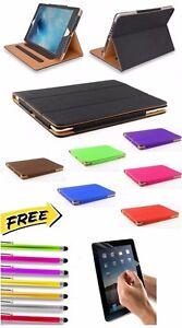 Genuine-Cuero-Suave-Bronceado-Funda-inteligente-soporte-cubieta-para-Apple-iPad-Mini-1-2-3