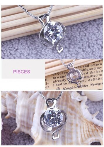 Newfangled Silver 12 Constellations Crystal Pendant Attractive Necklace Fashion