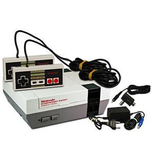 NINTENDO-ES-NES-consola-2-Mando-Original-CARGADOR-Antena-Suave
