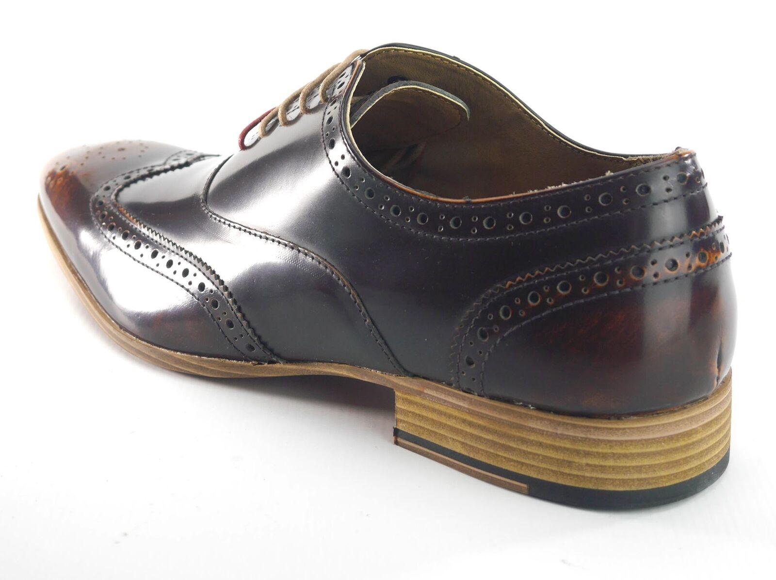 Frank James Norbury Hi  Shine  Hi  Herren Lace Up Brogue Lace Up Schuhes Braun b8ac01