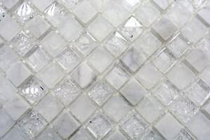Piastrelle materiali mosaico di vetro rotto bianco bagno box doccia
