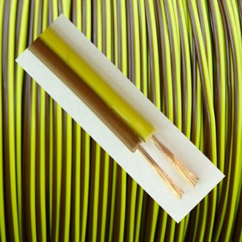 LIYZ Cavo 0,25mm² Rosso Nero Marrone Giallo Gemelli trefolo 2-fili lunghezza selezionabile