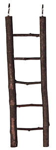 5-Rung-Natural-Living-Wooden-Ladder-Bird-Cage-Budgie-Canary-Toy-26cm