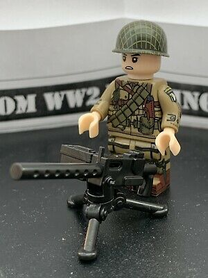 WW2 CUSTOM US 101st Airborne With 50 Cal MINI FIGURES