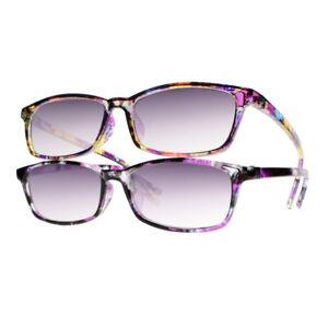 8719828ab36b Image is loading Women-Fashion-UV400-Tinted-Lens-Reading-Glasses-Sun-