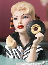 Vintage Cameo Girls Head Vase, LV-097 Let's Rock 1954 Abigail BNIB
